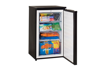 Black Undercounter Freezer with 4 star rating